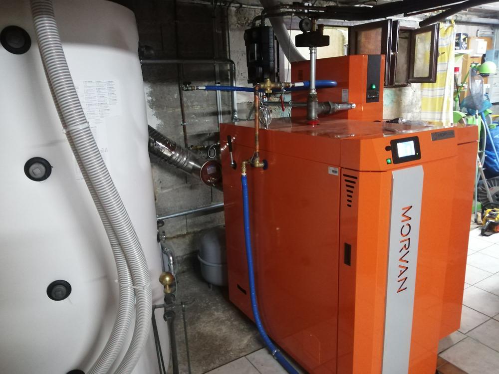 Chaudière polycombustible bûche-granulés GMX MORVAN